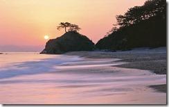 初日の出、高知県、桂浜 (Sunrise over Katsurahama, Kochi, Japan)