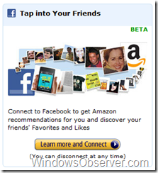amazonfacebookconnect