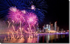 Fireworks on New Year's Eve, Singapore