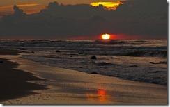 Zachód słońca na plaży (Sunset on the beach)