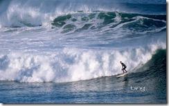 Surfer off of Bells Beach, Victoria