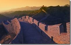 落日时的长城,中国 (Great Wall at Sunset, China)