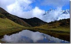 प्रतिच्छायाएँ Reflections, Kanchenjunga National Park, North Sikkim, India