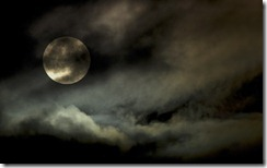 Harvest Moon through Clouds, October 6, 2006, Canada