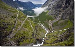 Trollstigen mountain road in Romsdal, Norway