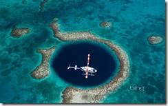 Great Blue Hole underwater sinkhole off the coast of Belize