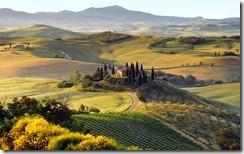 Paesaggio nei pressi di San Quirico d'Orcia, Siena (Landscape near San Quirico d'Orcia town)