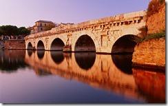 Ponte di Tiberio, Rimini (Tiberio Bridge on Marecchia River)