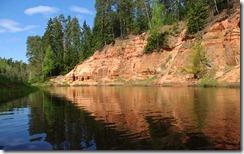Klintis Salacas Krastā, Latvijā (Clifs on bank of Salaca, Latvia)