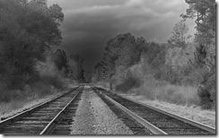 Railroad tracks, Baldwin County, Florida, U.S.