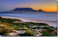 Table Mountain across Table Bay, Cape Town, South Africa