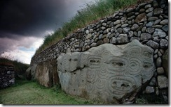Carved stones at Newgrange Tumulus, County Meath, Ireland