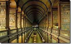 Gallery of the Old Library at Trinity College in Dublin, Ireland