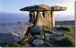 Poulnabrone Dolmen in the Burren, County Clare, Ireland