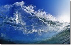 Looking into the sun through a crystal wave, Santa Cruz, California