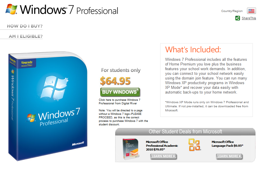 windows 7 student discount 2014