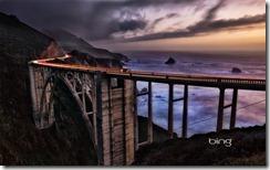 Bixby Bridge at sunset, Big Sur, California