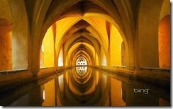 The Baths of Lady Maria de Padilla at the Alcázar of Seville royal palace, Seville, Spain