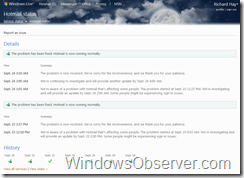 windowslivestatusservicewithissuepage