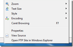 Windows 7 and Built In FTP Site Browsing