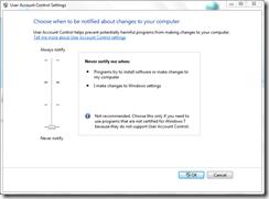 User Account Control (UAC) In Windows 7