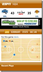 ESPN ScoreCenter on Windows Phone 7