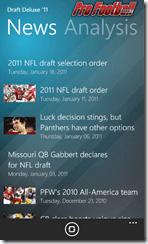 Windows Phone 7 App: Pro Football Weekly Draft Insider