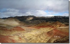 Painted Hills in John Day Fossil Beds National Monument in central Oregon