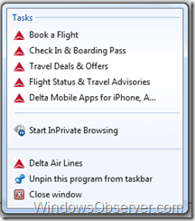 Delta Airlines Pins Their Site With Internet Explorer 9