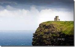 O'Brien's Tower sits atop the Cliffs of Moher and overlooks Galway Bay in Ireland