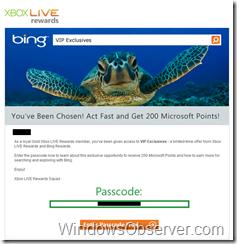 Xbox Live Rewards and Bing Phishing Email Analysis