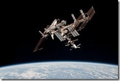 Windows 7 Theme: Shuttle Endeavour Docked at ISS