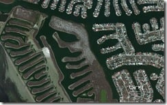 Neighborhood on Padre Island, Corpus Christi, Texas