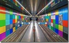 Georg-Brauchle-Rin U-Bahn station in Munich, Germany