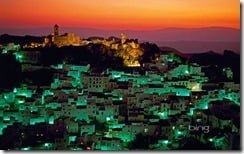 The white village of Casares, Spain