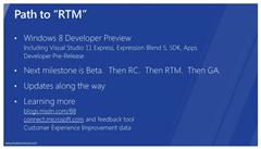 Windows 8 Path to RTM