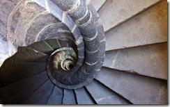 Stone spiral staircase, Mexico City, Mexico