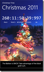 Countdown to Christmas Windows Phone 7 Apps