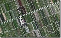 Farm Fields West of Comacchio, Italy