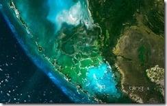 Satellite image of the Everglades, Florida