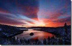 Dawn light over Emerald Bay, Lake Tahoe, California