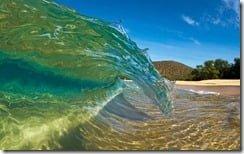 Shorebreak Curl, Big Makena Beach, Maui, Hawaii, U.S.