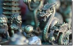 Bronze souvenirs, Yonghe Temple, Beijing, China