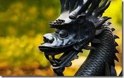 Dragon statue, close-up, Summer Palace, Beijing, China