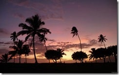 Sunset, Kihei, Maui, Hawaii, U.S.