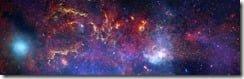 Central region of the Milky Way galaxy