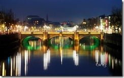 O'Connell Bridge over the River Liffey in Dublin, Ireland