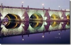 Segovia bridge at night, Madrid, Spain