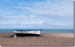 Old boat, Aldeburgh Beach, Suffolk, England, U.K.