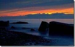 Sunset on Lake Erie, U.S.